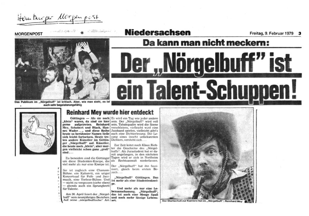 Nörgelbuff-Talentschuppen